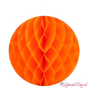 Boule en nid d'abeilles - Orange - 20cm (2pcs)