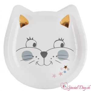 Assiettes Chat (10 pcs)