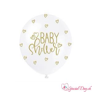 Ballons Baby Shower Or (5 pcs)