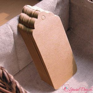Etiquettes rectangle - Naturel (50pcs)