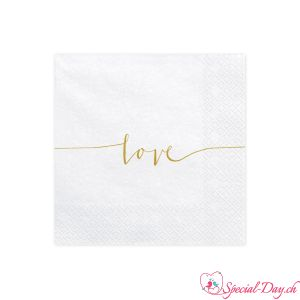 Servietten Love (20pcs) - Gold