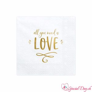 Serviettes All you need is LOVE (20 pcs)