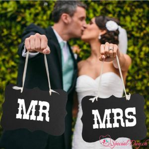 Spruchband Mr & Mrs