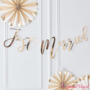 Just Married Girlande - Gold