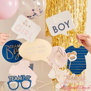 Accessoires Photobooth Gender Reveal