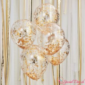 Ballons Paillettes Or (5pcs)