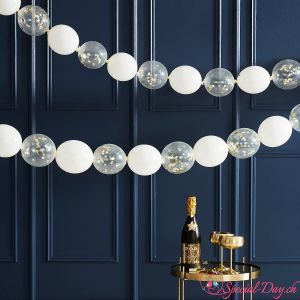 Guirlande de ballon blanc or (24pcs)