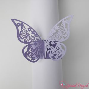 Ronds de serviette - Papillon Lavande (10 pcs)