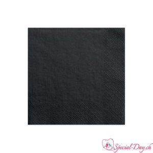 Serviettes de table - Noir (20pcs)