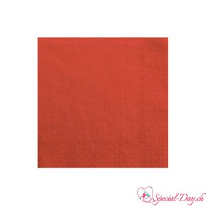 Serviettes de table - Rouge (20pcs)